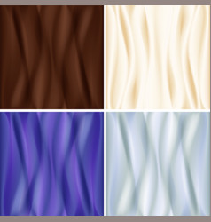 set of satin backgrounds vector image