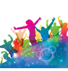 Young dancing people vector image