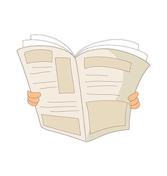 A reading news paper vector