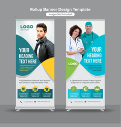 abstract lines roll up banner design vector image