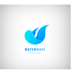 abstract wave logo water wavy blue icon vector image