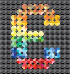 Alphabet of colorful mosaic vector