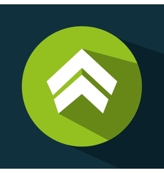 Arrow upload data icon vector