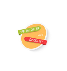 banner sales discount special offer on white vector image