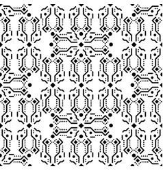 Black and white ornament seamless pattern vector
