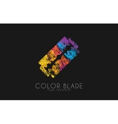 Blade razor logo Blade logo Color blade vector image