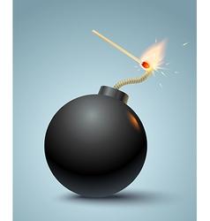 bomb black vector image