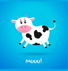 Cartoon character cow vector