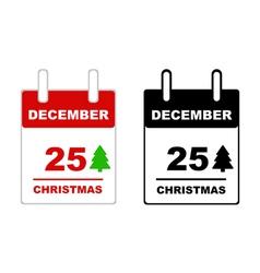 Christmas calendar vector image