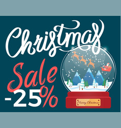 christmas sale 25 percent off discount vector image