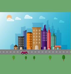 Cityscape landscape flat background vector