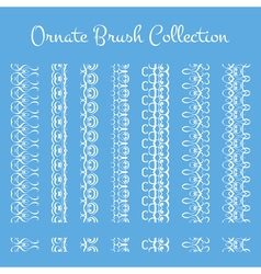 Collection of ornate brushes Decorative elements vector