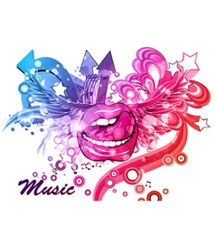 colorful music poster vector image