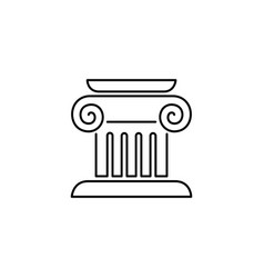 Column capital icon logo simple flat style sign vector