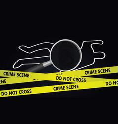 Crime investigation concept vector