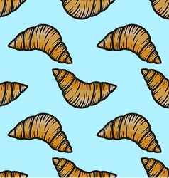 Croissant Patterned Background vector