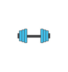 dumbbel solid icon gym tool graphics vector image