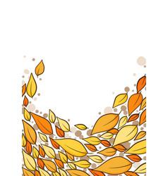 Ellow leaves border for autumn season vector