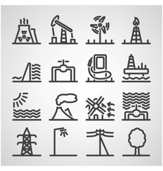 Energy and resource icon set vector image