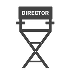 film director chair black icon work on set of vector image
