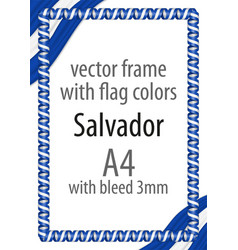 flag v12 salvador vector image