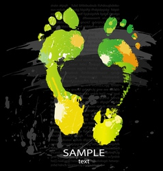 foot print splashes vector image