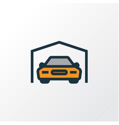 Garage colorful outline symbol premium quality vector