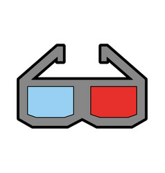glasses 3d isolated icon vector image