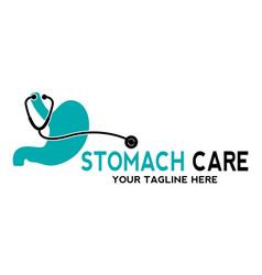 Human stomach logo design vector