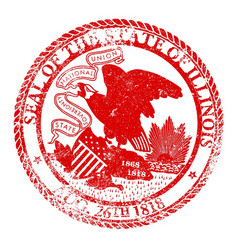 Illinois seal stamp vector