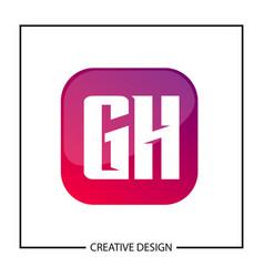 Initial gh letter logo template design vector