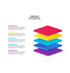 isometric elements for infographic template for vector image