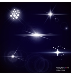 Light Optical Lens Flares vector image