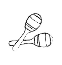 maracas music instrument vector image