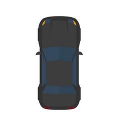 Modern flat black car vector
