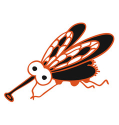 modern with black cute fly vector image
