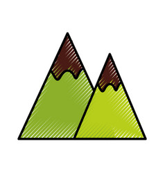 Mountain landscape nature vector