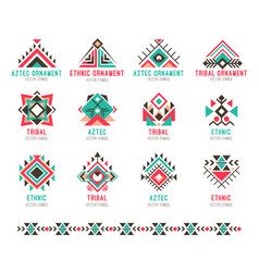 Native tribal pattern set vector