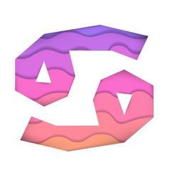 Papercut zodiac signs cancer paper art astrology vector