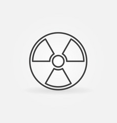 Radiation outline icon vector