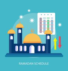 Ramadhan schedule conceptual design vector