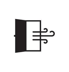 Room ventilation icon vector