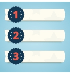 set blank banners with steps 1 2 and 3 vector image