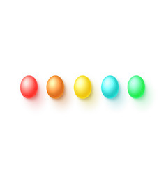 set easter colorful eggs vector image