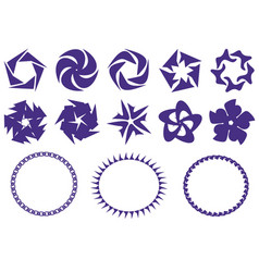 set of icons from circles chains symbols for vector image