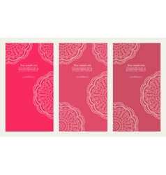 Set of invitation card vector image