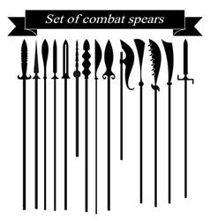 Set silhouettes combat copies vector