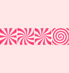 set sweet candy abstract backgrounds vector image