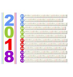 simple calendar in unusual design months in vector image
