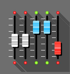 Sound mixer pult icon flat style vector